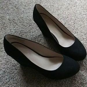 Nine West wedge platform shoes